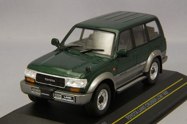 Модель 1:43 Toyota Land Cruiser LC80 RHD - dark green/silver