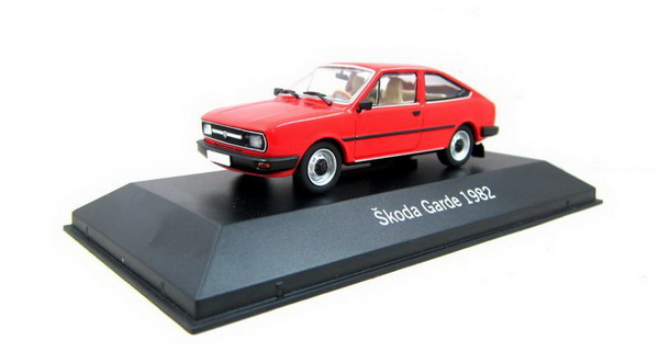 Модель 1:43 Skoda Garde 1982 - red (beige interior)