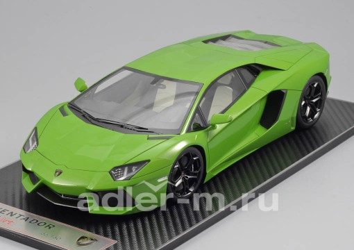 Модель 1:18 Lamborghini Aventador LP 700-4 - apple green