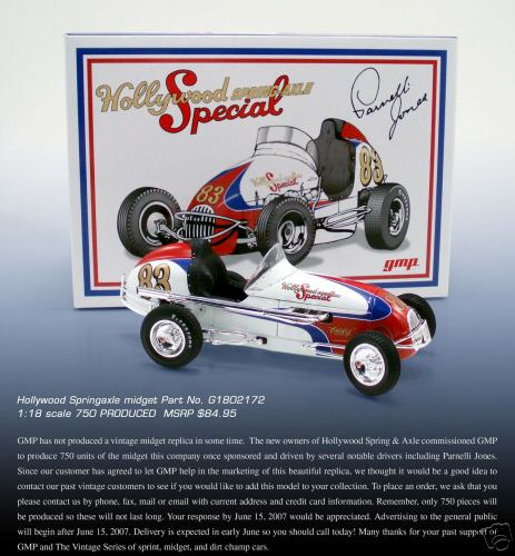 Модель 1:18 Hollywood Springaxle Midget