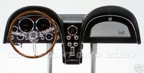 Модель 1:6 Chevrolet Corvette - BLACK DESKTOP DASHBOARD