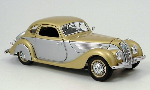 Модель 1:18 BMW 327 Coupe, silver/gold