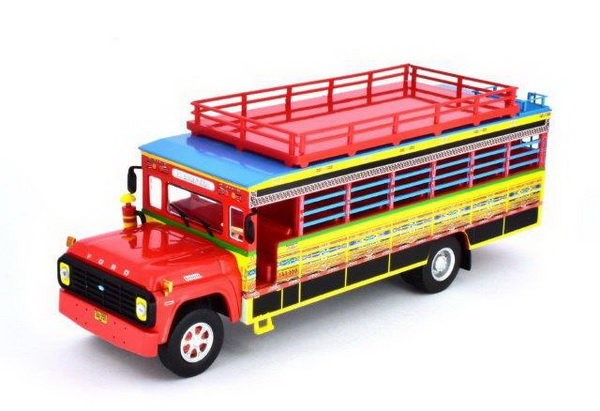 Модель 1:43 автобус FORD F-600 CHIVA COLOMBIA 1990 Red/Blue/Yellow