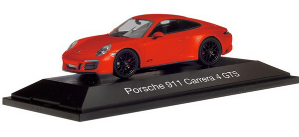 Модель 1:43 Porsche 911 Carrera 4 GTS - Lava Orange