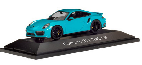 Модель 1:43 Porsche 911 Turbo S - Miami Blue