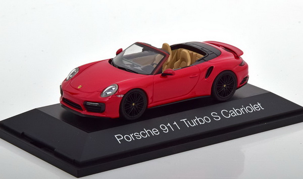 Модель 1:43 Porsche 911 (991/2) Turbo S Cabrio - red