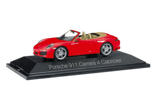 Модель 1:43 Porsche 911 Carrera 4 Cabrio - red