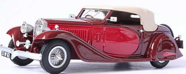 Модель 1:43 Bugatti T 57 Stelvio Drophead Coupе Usine Ch.№57219 - bordeaux/red