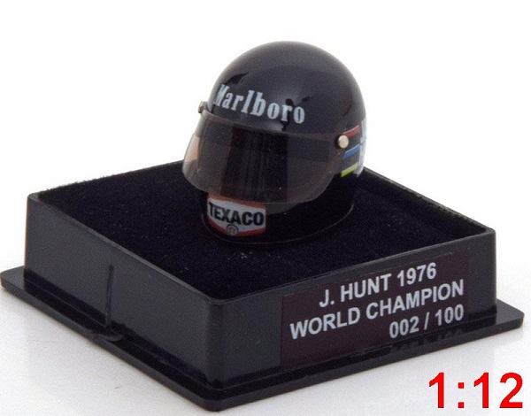 Модель 1:12 McLaren Helm Weltmeister 1976 Hunt World Champions Collection (Limited Edition 100 pcs.)
