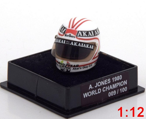 Модель 1:12 Williams Helm Weltmeister World Champions Collection (A.Jones) (L.E.100pcs)