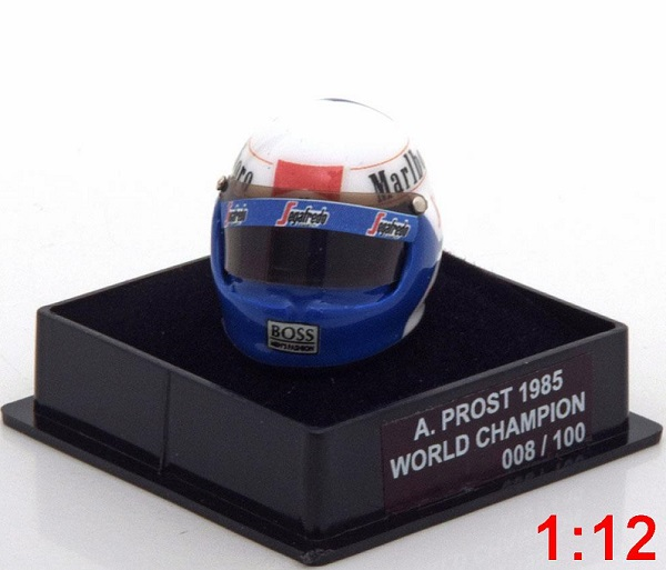 Модель 1:12 McLaren Helm Weltmeister 1985 Prost World Champions Collection (Limited Edition 100 pcs.)
