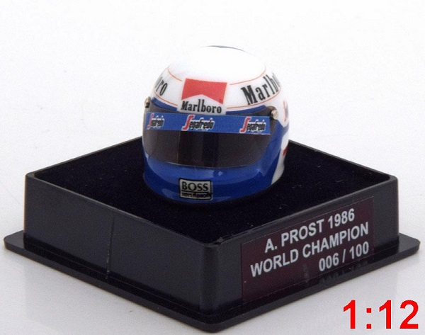 Модель 1:12 McLaren Helm Weltmeister 1986 Prost World Champions Collection (Limited Edition 100 pcs.)