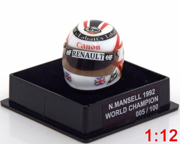 Модель 1:12 Williams Helm Weltmeister World Champions Collection (Nigel Mansell) (L.E.100pcs)