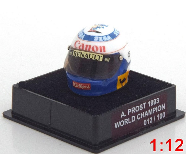 Модель 1:12 Williams Helm Weltmeister 1993 Prost World Champions Collection (Limited Edition 100 pcs.)