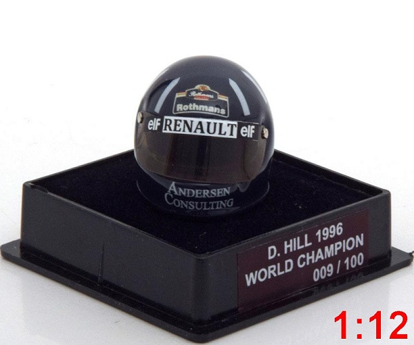 Модель 1:12 Williams Helm Weltmeister 1996 Hill World Champions Collection (Limited Edition 100 pcs.)