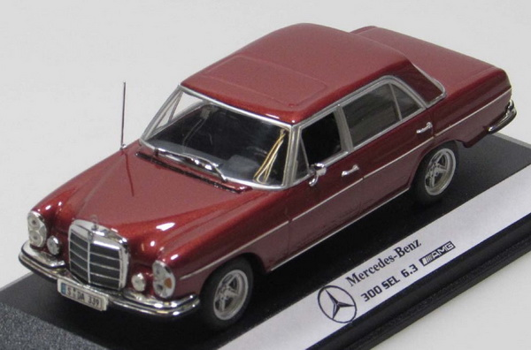 Модель 1:43 Mercedes-Benz 300SEL 6.3 (W108) AMG - dark red