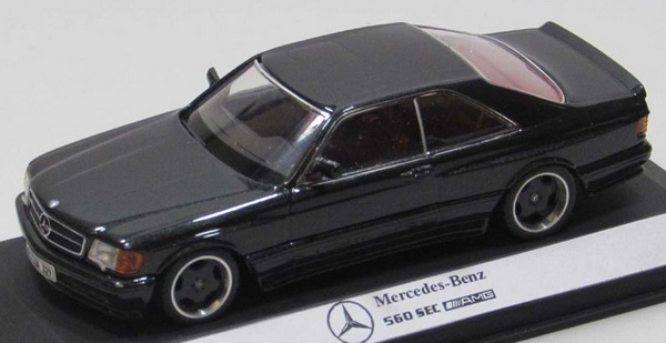 Модель 1:43 Mercedes-Benz 560 SEC (C126) AMG Coupe - black/wide body
