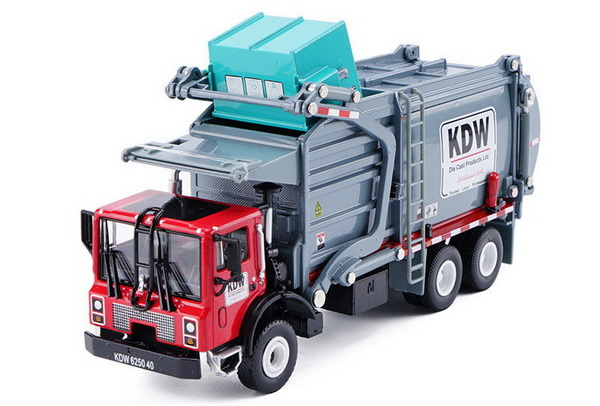 Модель 1:43 Mack TerraPro Refuse Truck with Heil Half/Pack Freedom Front Loader - red/grey