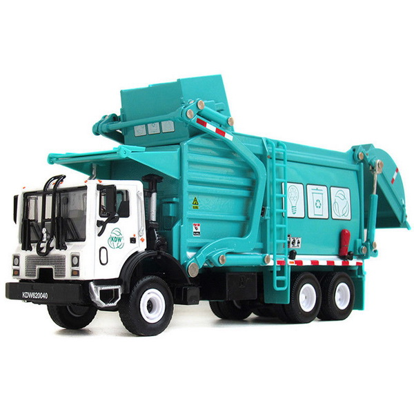 Модель 1:43 Mack TerraPro Refuse Truck with Heil Half/Pack Freedom Front Loader - white/turquoise