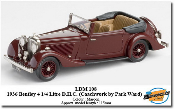 Модель 1:43 Bentley 4.25 Litre D.H.C. - Maroon (Coachwork by Park Ward)