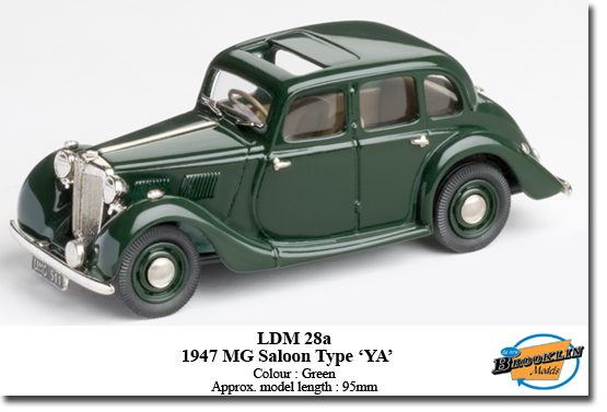 Модель 1:43 MG Saloon Type 'YA' (Green) 1947
