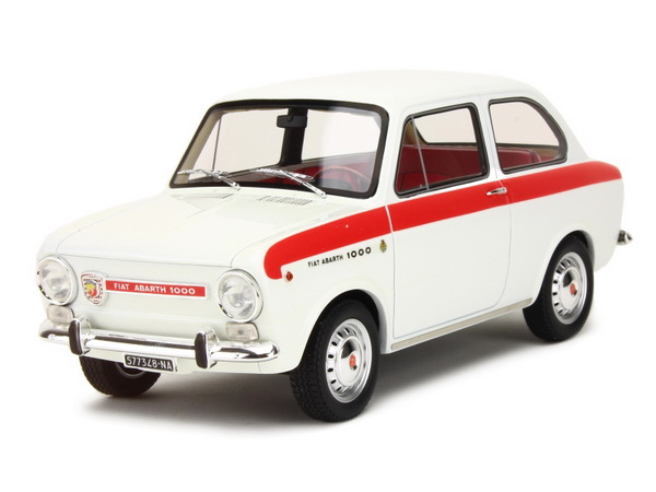 Модель 1:18 FIAT Abarth OT1000 (850) Special Edition - white/red