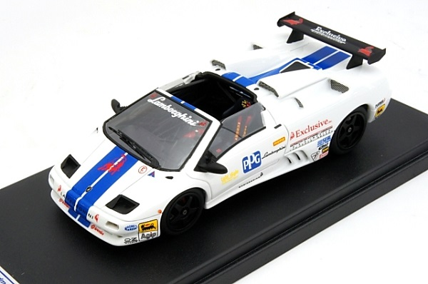 Модель 1:43 Lamborghini Diablo VT US Race - white/blue