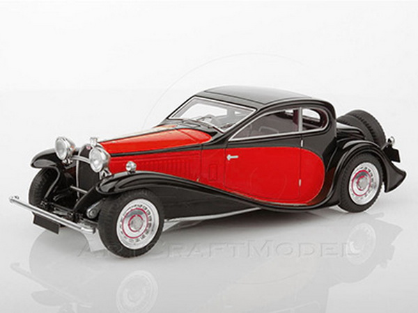 Модель 1:43 Bugatti T50T - red/black