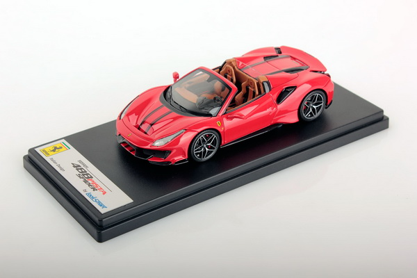 Модель 1:43 Ferrari 488 Pista Spider (ROSSO CORSA RED BLACK STRIPE)
