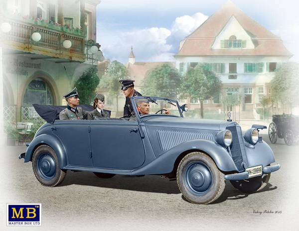 Модель 1:35 Mercedes-Benz 170 V Tourenwagen (с экипажем)