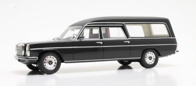 Модель 1:18 Mercedes-Benz 230 VF114 (W114) Pollmann Hearse (катафалк)1972 Black