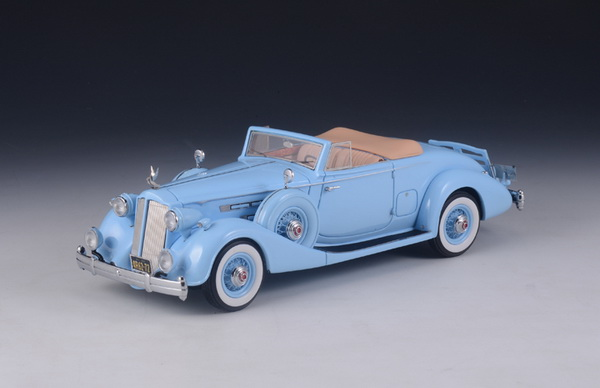 Модель 1:43 Packard Twelve 1407 Bohman & Schwartz Convertible Coupe 1936 Light Blue