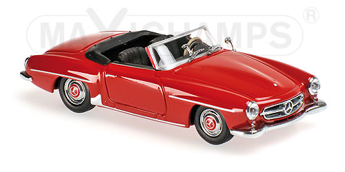 Модель 1:43 Mercedes-Benz 190 SL (W121) - dark red