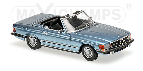 Модель 1:43 Mercedes 350 SL (R107) - 1974 - LIGHT BLUE METALLIC