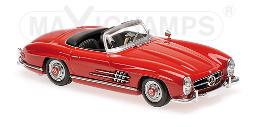 Модель 1:43 Mercedes-Benz 300 SL Roadster (W198 II) - dark red