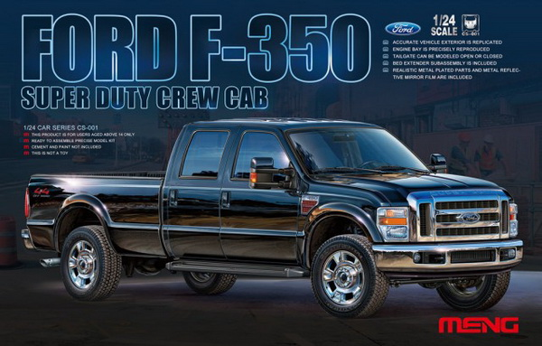 Модель 1:24 Ford F-350 Super Duty Crew