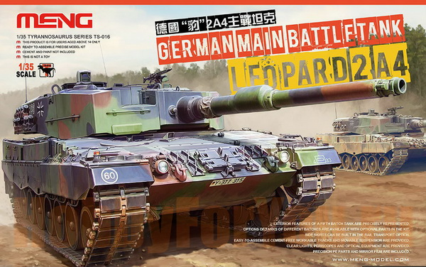 Модель 1:35 German Main Battle Tank Leopard 2 A4