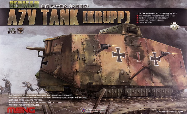 Модель 1:35 Krupp A7V Tank German