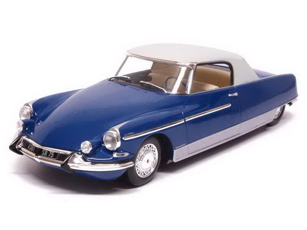 Модель 1:18 Citroen DS 19 Chapron Coupe Le Dandy - blue/white