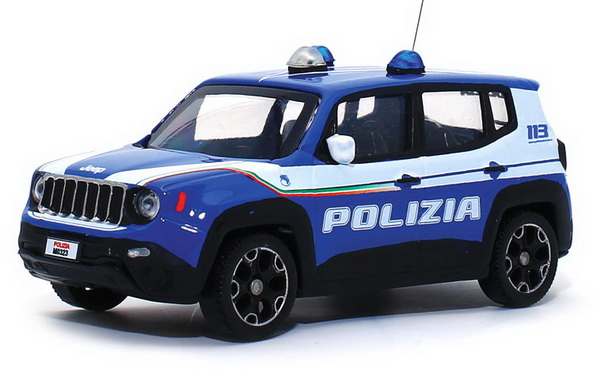 Модель 1:43 Jeep Renegade POLIZIA - blue/white