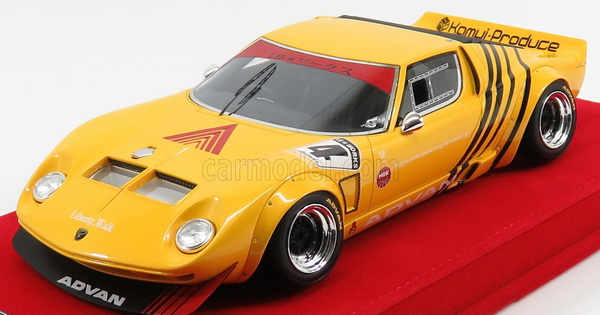 Модель 1:18 Lamborghini Miura LB WORKS CHASSIS FORD GT40 №4 Liberty Walk - yellow (L.E.100pcs)