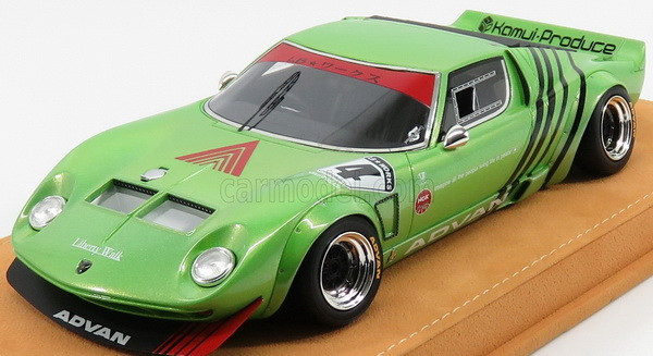 Модель 1:18 Lamborghini Miura LB WORKS CHASSIS FORD GT40 №4 Liberty Walk - green