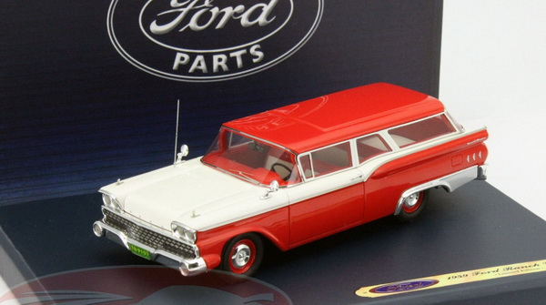 Модель 1:43 Ford Ranch Wagon - red/white