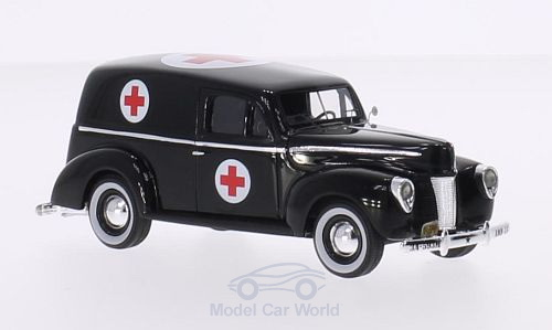Модель 1:43 Ford Panel Van Ambulance US Army - blacxk