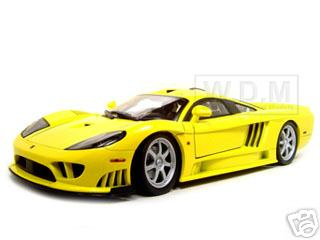 Модель 1:12 Saleen S7 Twin Turbo - yellow