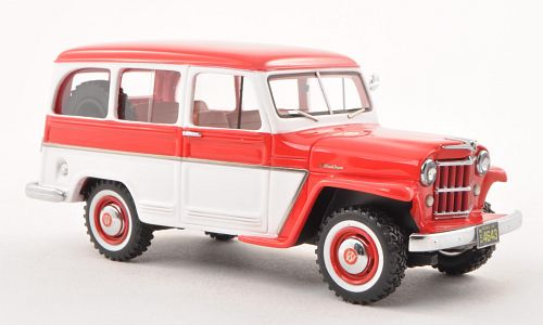 Модель 1:43 Willys Jeep Station Wagon - red/white (L.E.500pcs.)