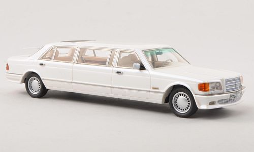 Модель 1:43 Mercedes-Benz W126 Stretch Limousine - white (L.E.300pcs for ModelCarWorld)