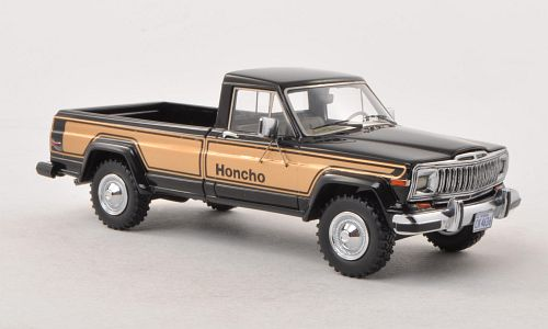 Модель 1:43 Jeep J10 Pick-Up Honcho - black/gold (L.E.500pcs)