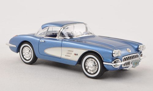 Модель 1:43 Chevrolet Corvette (C1) HardTop - blue met/white (L.E.300pcs)