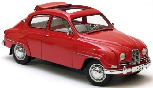 Модель 1:18 Saab 96 Open slidign roof